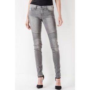 NWOT Grey Moto Flying Monkey Jeans